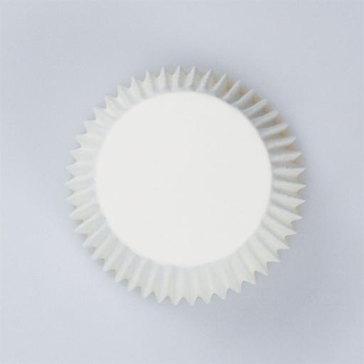 White Plain Printed Baking Cases 54pcs