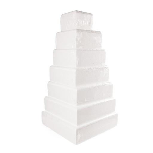 "12x3"" Square Cake Dummy - Rounded Edge"