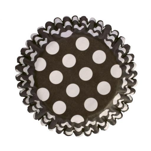 Black Spot Printed Baking Cases 45pcs