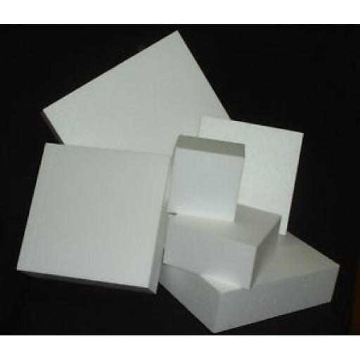 "4"" Square Cake Dummy Separator Straight Edge"