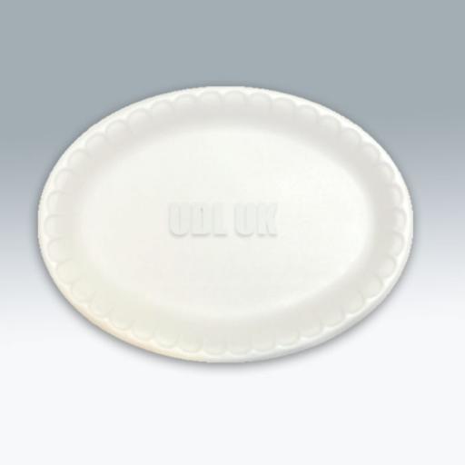 Laminiated/Foam Oval Plates / Platters -50/pkg