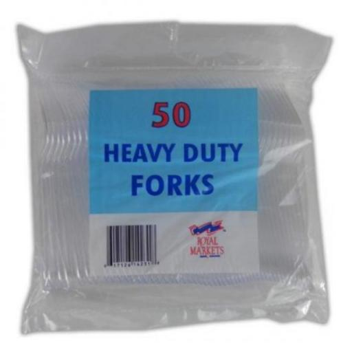 Heavy Duty Clear Plastic Forks 50/pkg