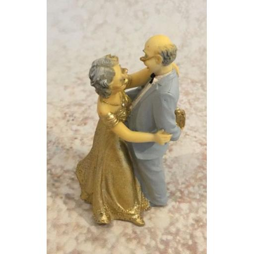 Resin 50th Anniversary Couple Cake Topper