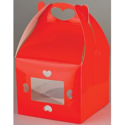 Red Single Cupcake Box 2/pack