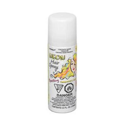 White Neon Hair Spray Temporary 85g