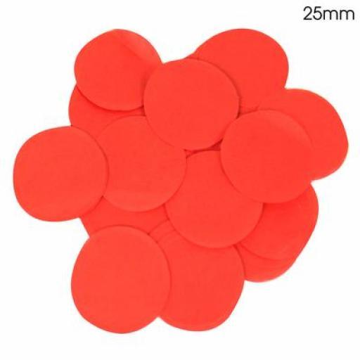 Tissue Paper Confetti Flame Retardant Round 25mm x 100g Red