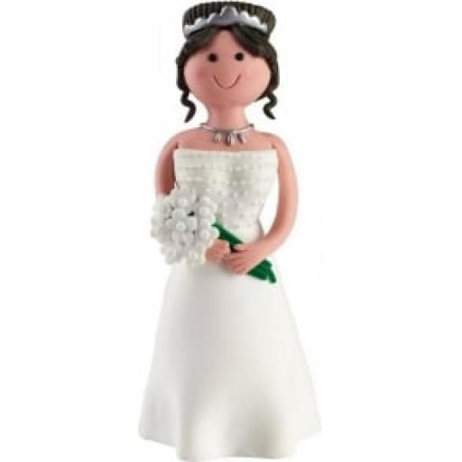 Claydough - Brown Haired Seated Bride - Acetate Box
