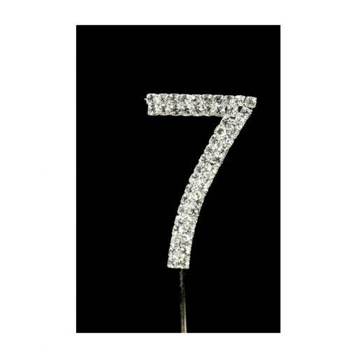 Diamante 7th Birthday Cake Topper Decoration