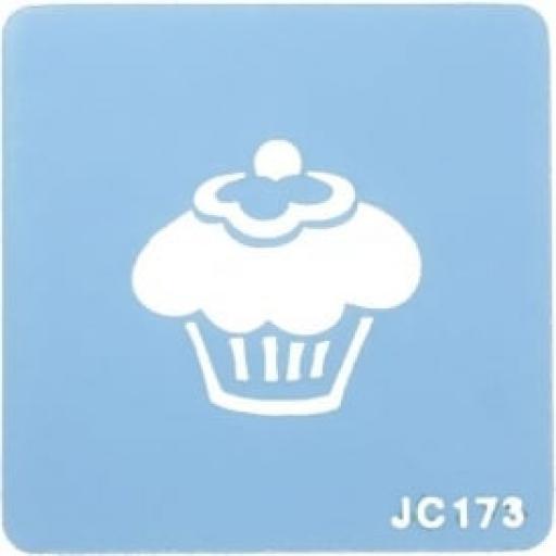 Cupcake Design Stencil