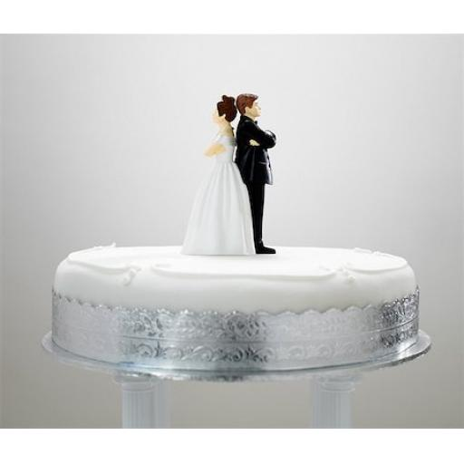Arguing Bride and Groom - Cake Topper