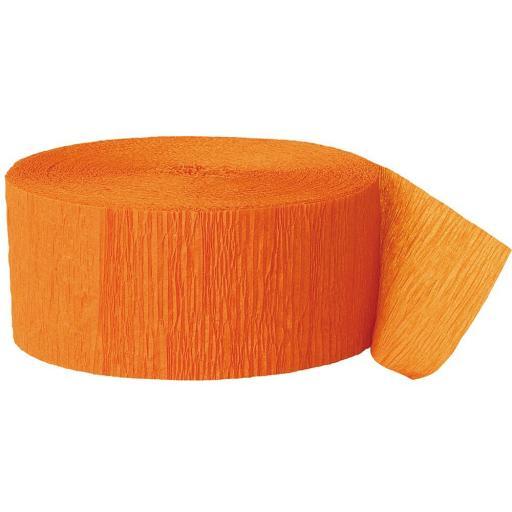 Crepe Streamer 81 ft Orange
