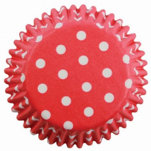 Red Polka Dots Cupcake Cases 60pcs