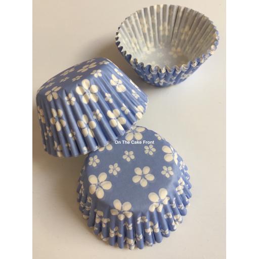 Blue Blossom Flower Cupcake Cases54pcs