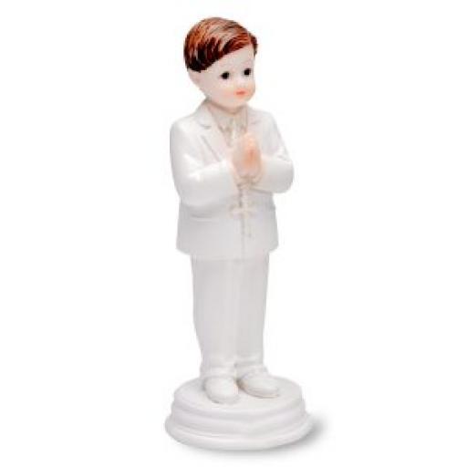 Shiny Resin Praying Boy Standing
