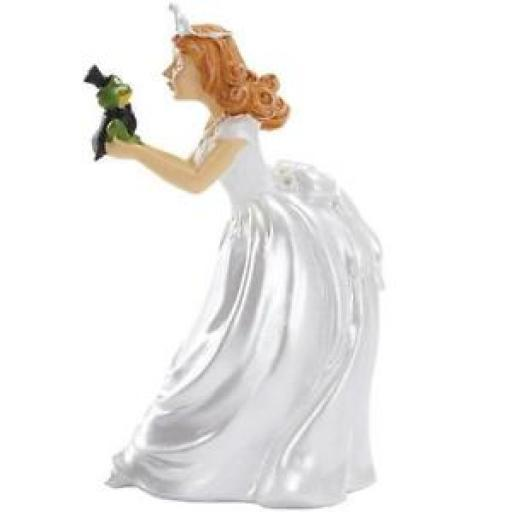 Princess Kisses Frog Humorous Cake Topper