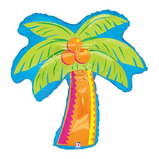Tropical Palm Tree Shape Foil Helium Balloon 37 inch
