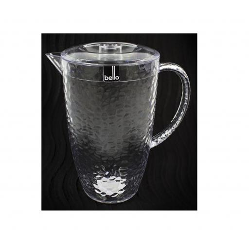 """Bello"" Clear Plastic Pitcher 2L With Lid"