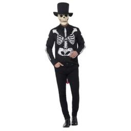 Day of the Dead Se±or Skeleton Costume- M