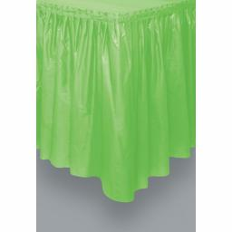 Plastic Tableskirt Lime Green 73cm x 426cm