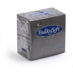 100 Bulkysoft Napkins Brown 2 ply 33X33