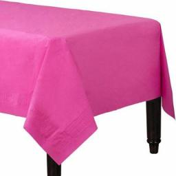 25 Hot Pink Table Covers 90cm x 90cm