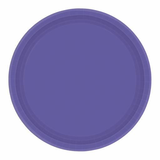 "8 Purple Paper Plates 9"""