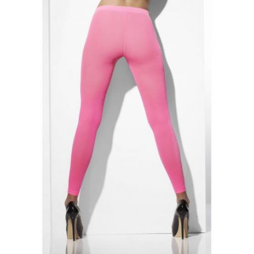 Fever Opaque Footless Tights Neon Pink