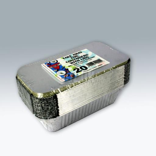 No.6a Foil Containers & Lids 20/pkg