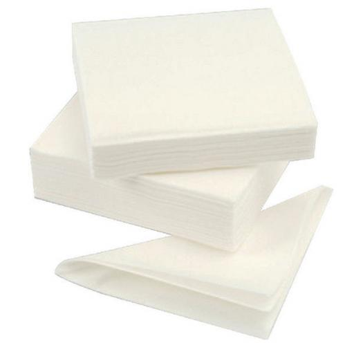 100 White Paper Napkins 330mm