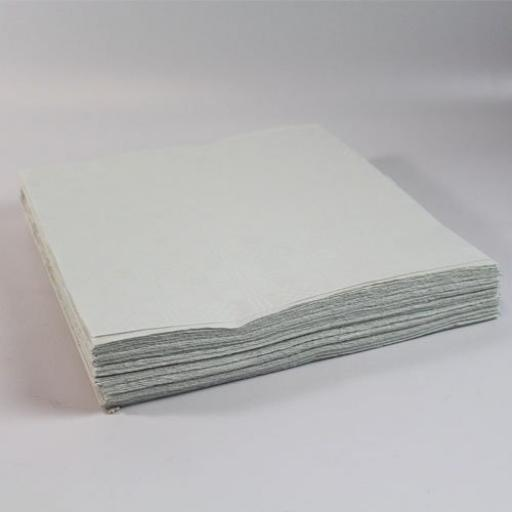 25 White Paper Table Covers 90x90cm