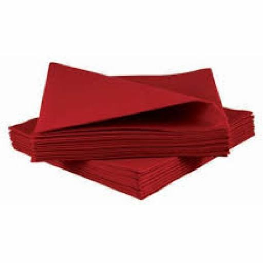 100 Red Napkins 33cm / 2ply
