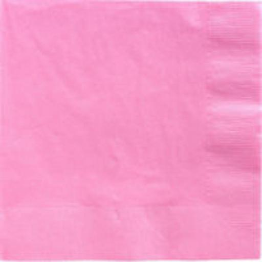 20 Light Pink Dinner Napkins 2ply/40cm