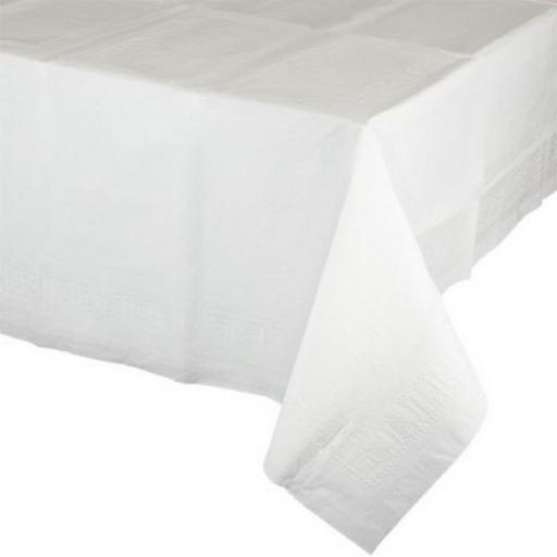 6 Frosty White Paper Tablecovers 54x108""