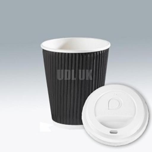 Black RIpple Cups -8oz/240 ml
