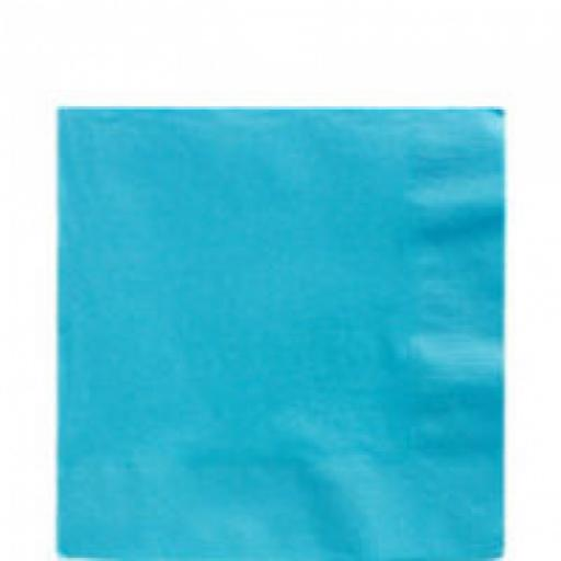 20 Caribbean Blue Luncheon Napkins 2ply/33cm -