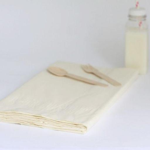 25 Vanilla cream Table Covers 90x90cm