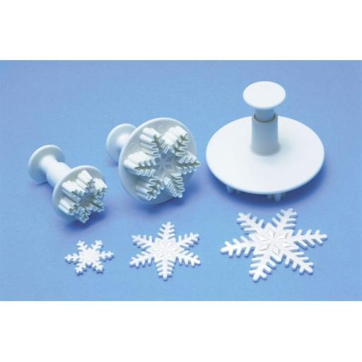 Snowflake Plunger Cutters Set 3/pkg