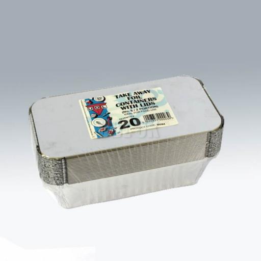No.6 Foil Containers & Lids 20/pkg