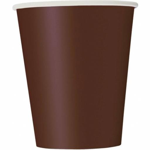14 Brown Paper Cups 9oz