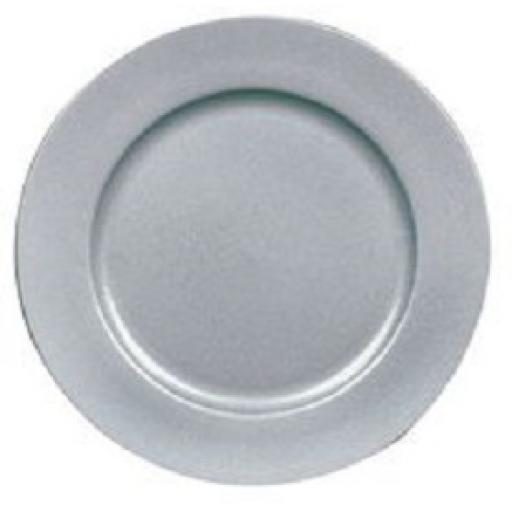 """Silver Glitter Charger Plate -13"""""""