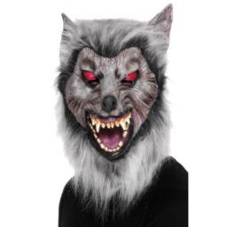 Adults Gray Were Prowler Wolf Full Mask Halloween