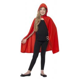 Red Hooded Cape Size M/L