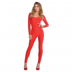 Red Catsuit Costume - Size Small/Medium