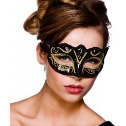 Verona Eye Mask -Gold Glitter
