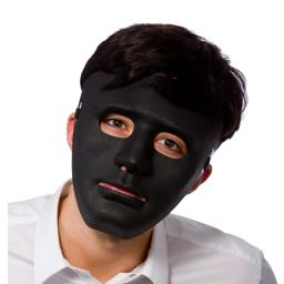 Adult Deluxe Robot Black Anonymous Face Mask