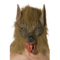Adults Brown Were Wolf Full Mask Halloween Animal