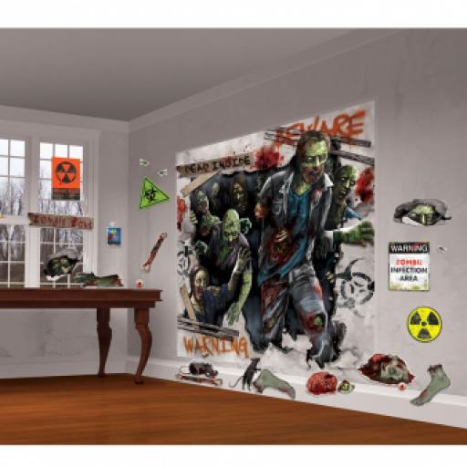 Zombies Scene Setters Walking Dead 82 x 165cm