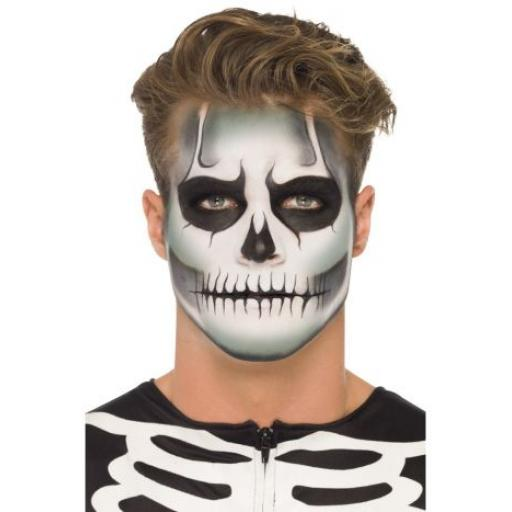 Smiffys Make-Up FX, GID Skeleton Kit, Grease