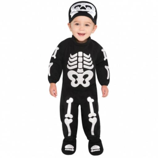 Baby Bitty Bones Skeleton Costume - Age 6-12 Months