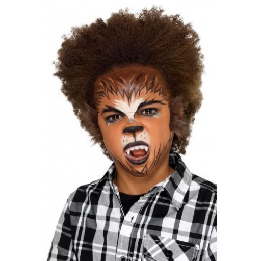 Smiffys Make-Up FX, Kids Werewolf Kit, Aqua